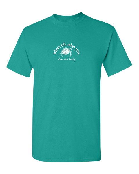 "WLTY Turtle ""Slow and Steady"" Adult Short Sleeve T-Shirt"