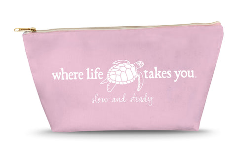 Turtle - Slow and Steady Large Accessory Bag (Blossom)