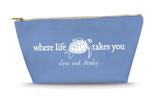 Turtle - Slow and Steady Large Accessory Bag (Flo Blue)