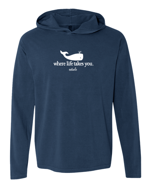 "WLTY Whale ""Exhale"" Adult Hooded Long Sleeve"
