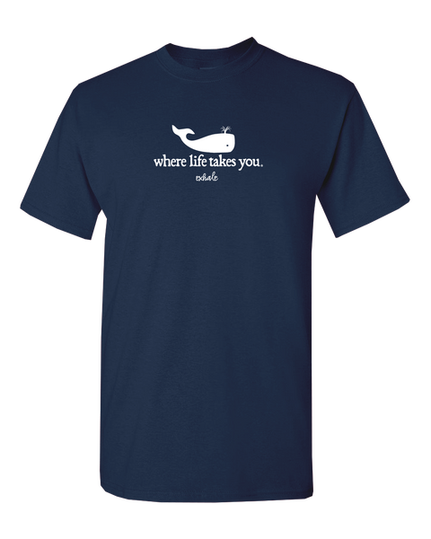 "WLTY Whale ""Exhale"" Adult Short Sleeve T-Shirt"