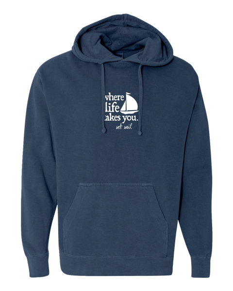 "WLTY Boat ""Set Sail"" Adult Hooded Sweatshirt"