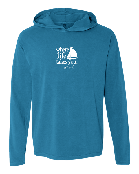 "WLTY Boat ""Set Sail"" Adult Hooded Long Sleeve"