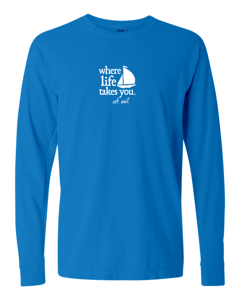 "WLTY Boat ""Set Sail"" Adult Long Sleeve T-Shirt"