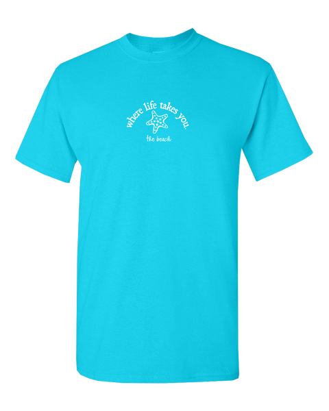 "WLTY Starfish ""The Beach"" Adult Short Sleeve T-Shirt"