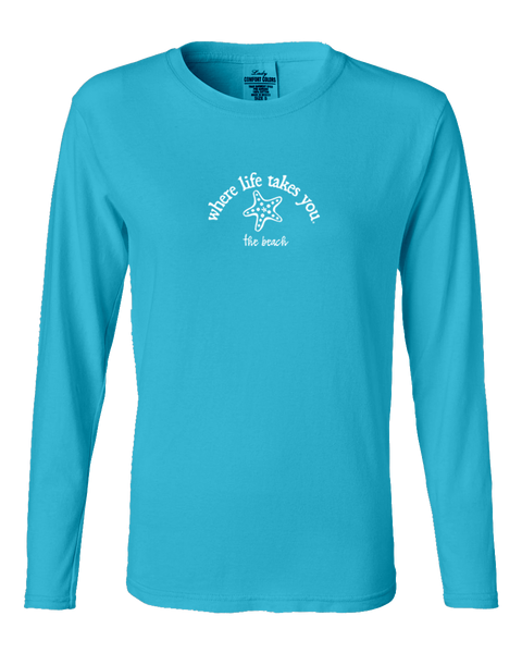 "WLTY Starfish ""The Beach"" Ladies Long Sleeve"