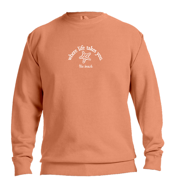 "WLTY Starfish ""The Beach"" Adult Crewneck Sweatshirt"