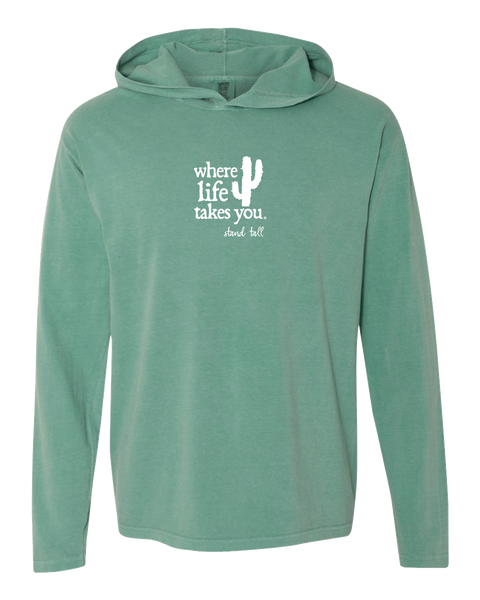 "WLTY Cactus ""Stand Tall"" Adult Hooded Long Sleeve"