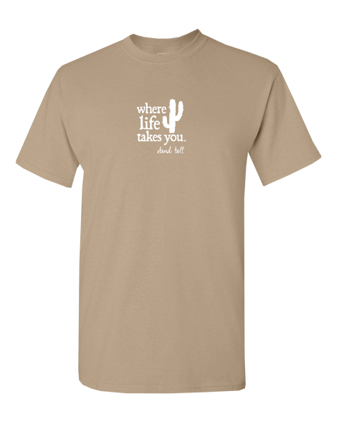 "WLTY Cactus ""Stand Tall"" Adult Short Sleeve T-Shirt"