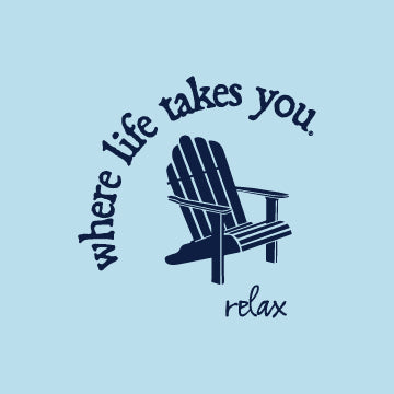 "WLTY Adirondack Chair ""Relax"" Ladies V-Neck T-Shirt"