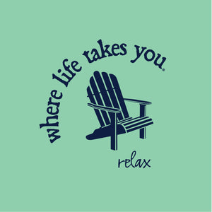"WLTY Adirondack Chair ""Relax"" Adult Short Sleeve T-Shirt"