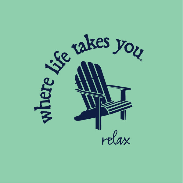 "WLTY Adirondack Chair ""Relax"" Ladies Short Sleeve T-Shirt"