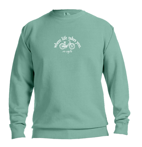 "WLTY Bike ""Recycle"" Adult Crewneck Sweatshirt"