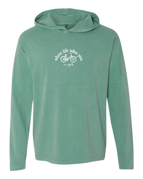 "WLTY Bike ""Recycle"" Adult Hooded Long Sleeve"