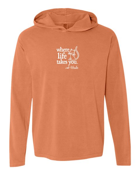 "WLTY Cat ""Catitude"" Adult Hooded Long Sleeve"