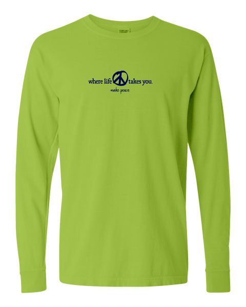 "WLTY Peace ""Make Peace"" Adult Long Sleeve T-Shirt"