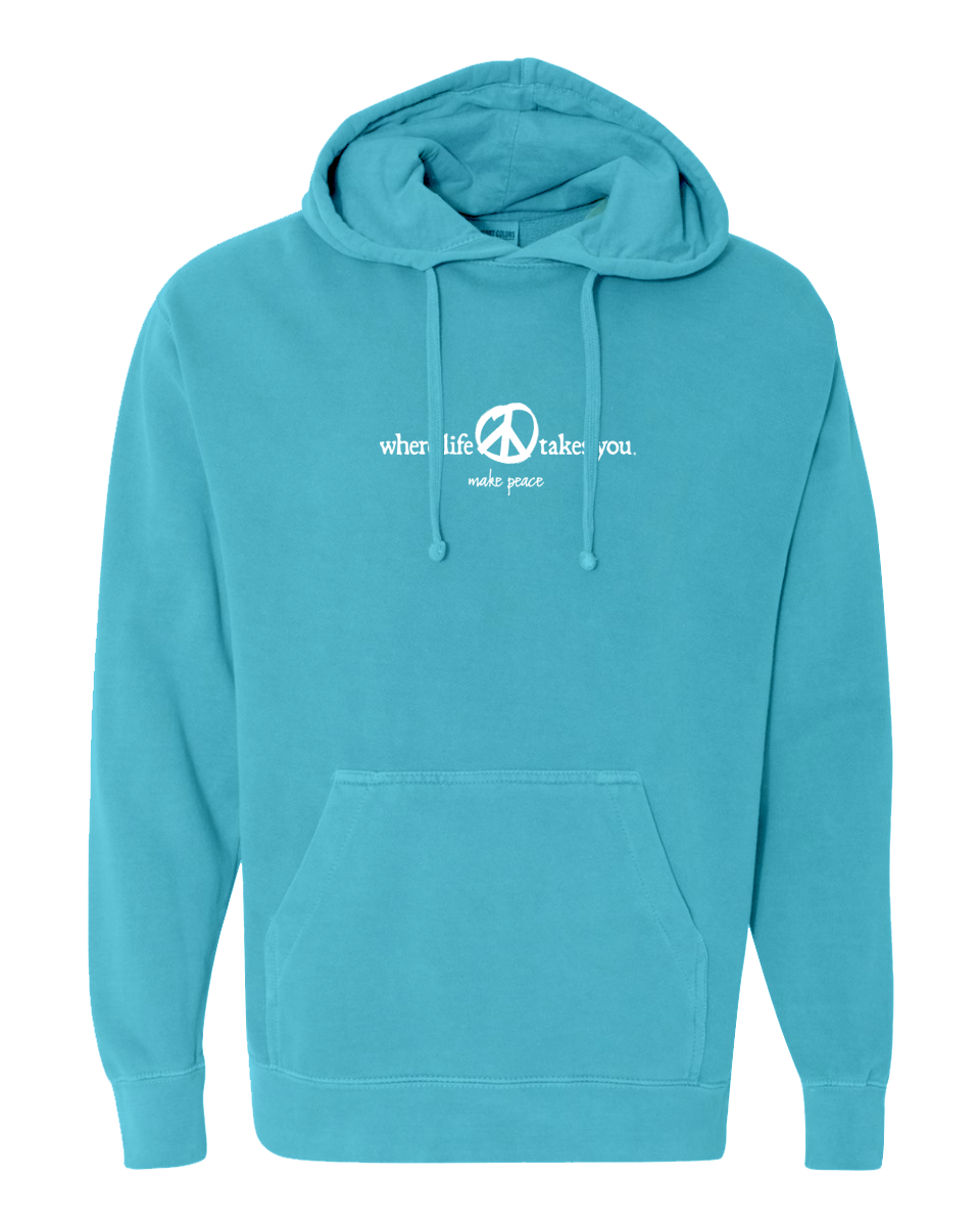 "WLTY Peace ""Make Peace"" Adult Hooded Sweatshirt"