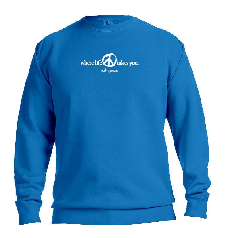 "WLTY Peace ""Make Peace"" Adult Crewneck Sweatshirt"