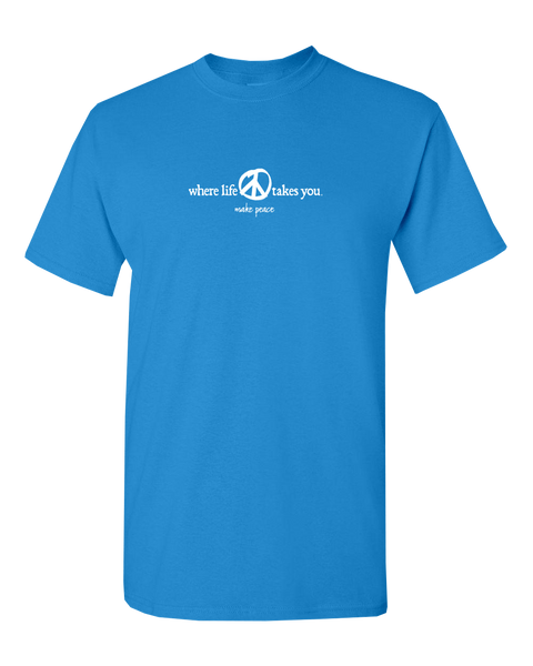 "WLTY Peace ""Make Peace"" Adult Short Sleeve T-Shirt"