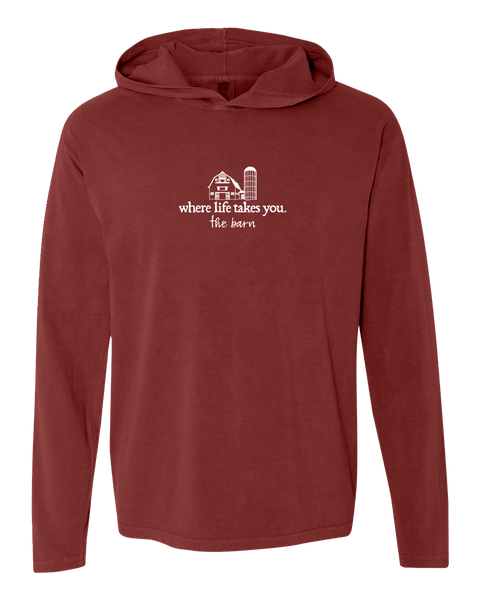 "WLTY Farm ""The Barn"" Adult Hooded Long Sleeve"