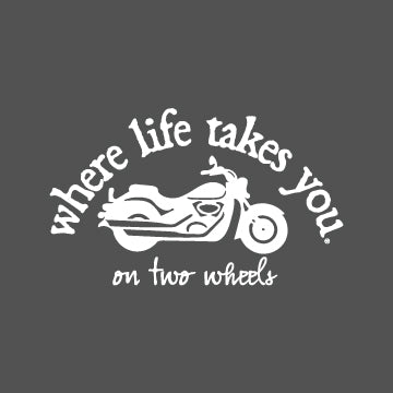 "WLTY Motorcycle ""On Two Wheels"" Adult Short Sleeve T-Shirt"