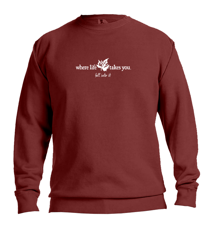 "WLTY Maple Leaf ""Fall Into It"" Adult Crewneck Sweatshirt"