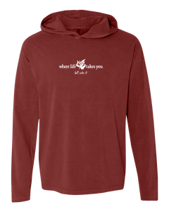 "WLTY Maple Leaf ""Fall Into It"" Adult Hooded Long Sleeve"