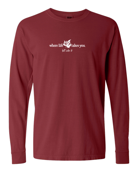 "WLTY Maple Leaf ""Fall Into It"" Adult Long Sleeve T-Shirt"