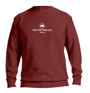 "WLTY Tractor ""The Farm"" Adult Crewneck Sweatshirt"