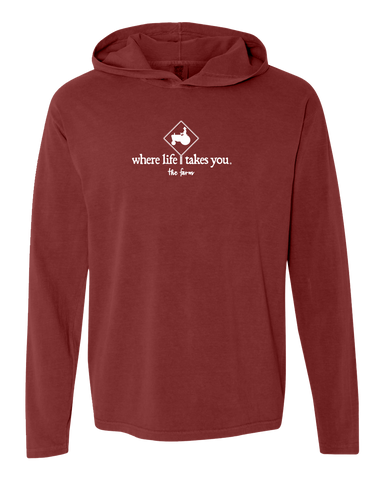 "WLTY Tractor ""The Farm"" Adult Hooded Long Sleeve"
