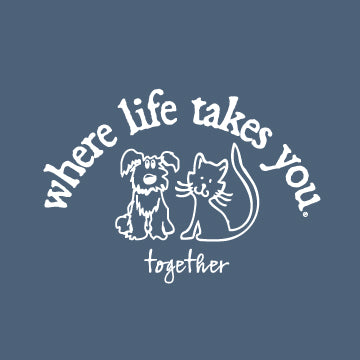 "WLTY Cat and Dog ""Together"" Adult Hooded Sweatshirt"