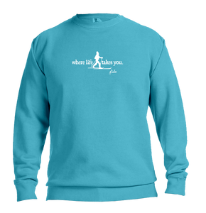 "WLTY Cross Country Skiing ""Glide"" Adult Crewneck Sweatshirt"