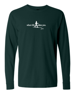 "WLTY Cross Country Skiing ""Glide"" Adult Long Sleeve T-Shirt"