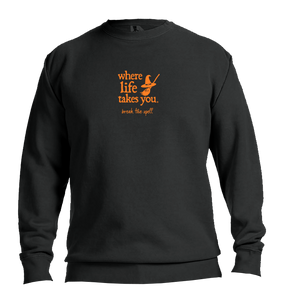 "WLTY Witch ""Break the Spell"" Adult Crewneck Sweatshirt"