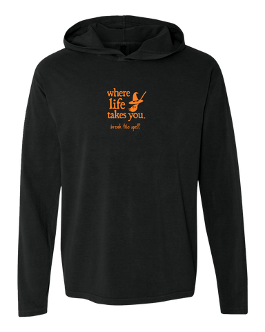 "WLTY Witch ""Break the Spell"" Adult Hooded Long Sleeve"