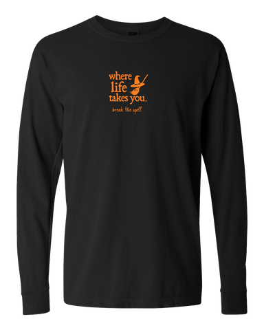 "WLTY Witch ""Break the Spell"" Adult Long Sleeve T-Shirt"