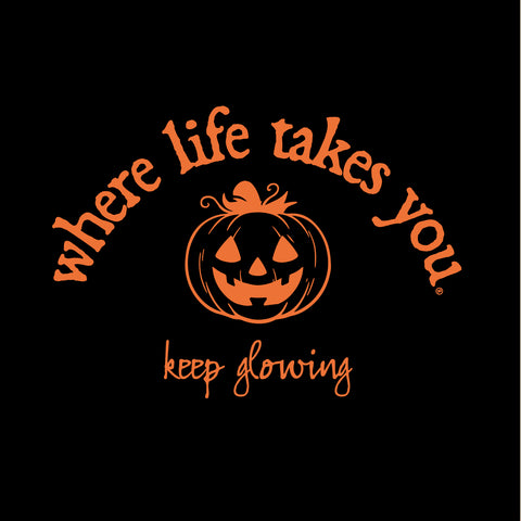 "WLTY Jack O Lantern ""Keep Glowing"" Adult Hooded Long Sleeve"