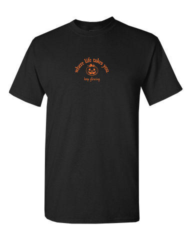 "WLTY Jack O Lantern ""Keep Glowing"" Adult Short Sleeve T-Shirt"