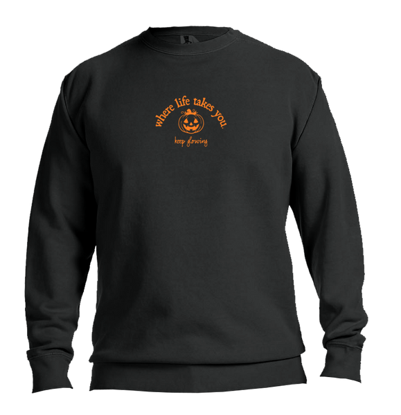 "WLTY Jack O Lantern ""Keep Glowing"" Adult Crewneck Sweatshirt"