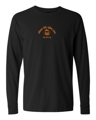 "WLTY Jack O Lantern ""Keep Glowing"" Adult Long Sleeve T-Shirt"