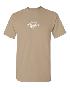 "WLTY Leaves and Acorns ""Grateful"" Adult Short Sleeve T-Shirt"