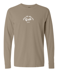 "WLTY Leaves and Acorns ""Grateful"" Adult Long Sleeve T-Shirt"