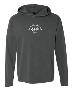 "WLTY Leaves and Acorns ""Grateful"" Adult Hooded Long Sleeve"