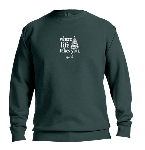 "WTLY Holiday Tree ""Sparkle"" Adult Crewneck Sweatshirt"