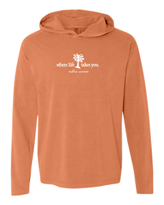 "WLTY Palm Tree ""Endless Summer"" Adult Hooded Long Sleeve"