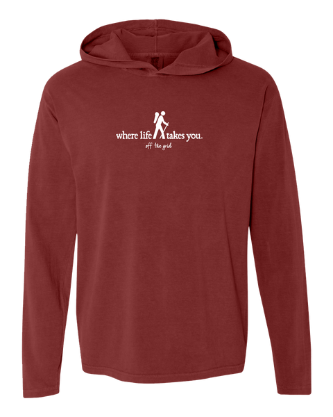 "WLTY Hiker ""Off the Grid"" Adult Hooded Long Sleeve"