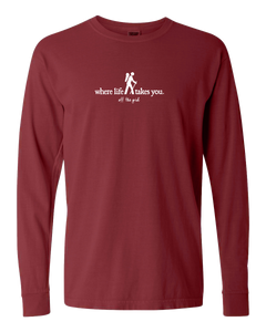 "WLTY Hiker ""Off the Grid"" Adult Long Sleeve T-Shirt"