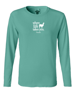 "WLTY Llama ""Llamaste"" Ladies Long Sleeve"