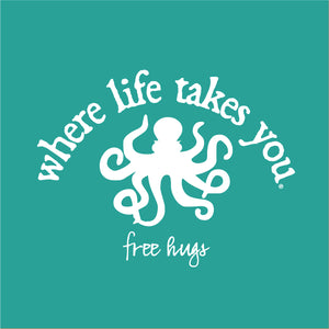 "WLTY Octopus ""Free Hugs"" Adult Hooded Sweatshirt"