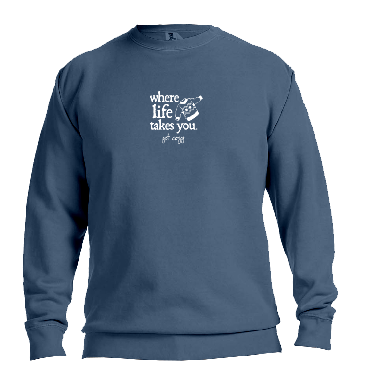 "WLTY Sweater ""Get Cozy"" Adult Crewneck Sweatshirt"